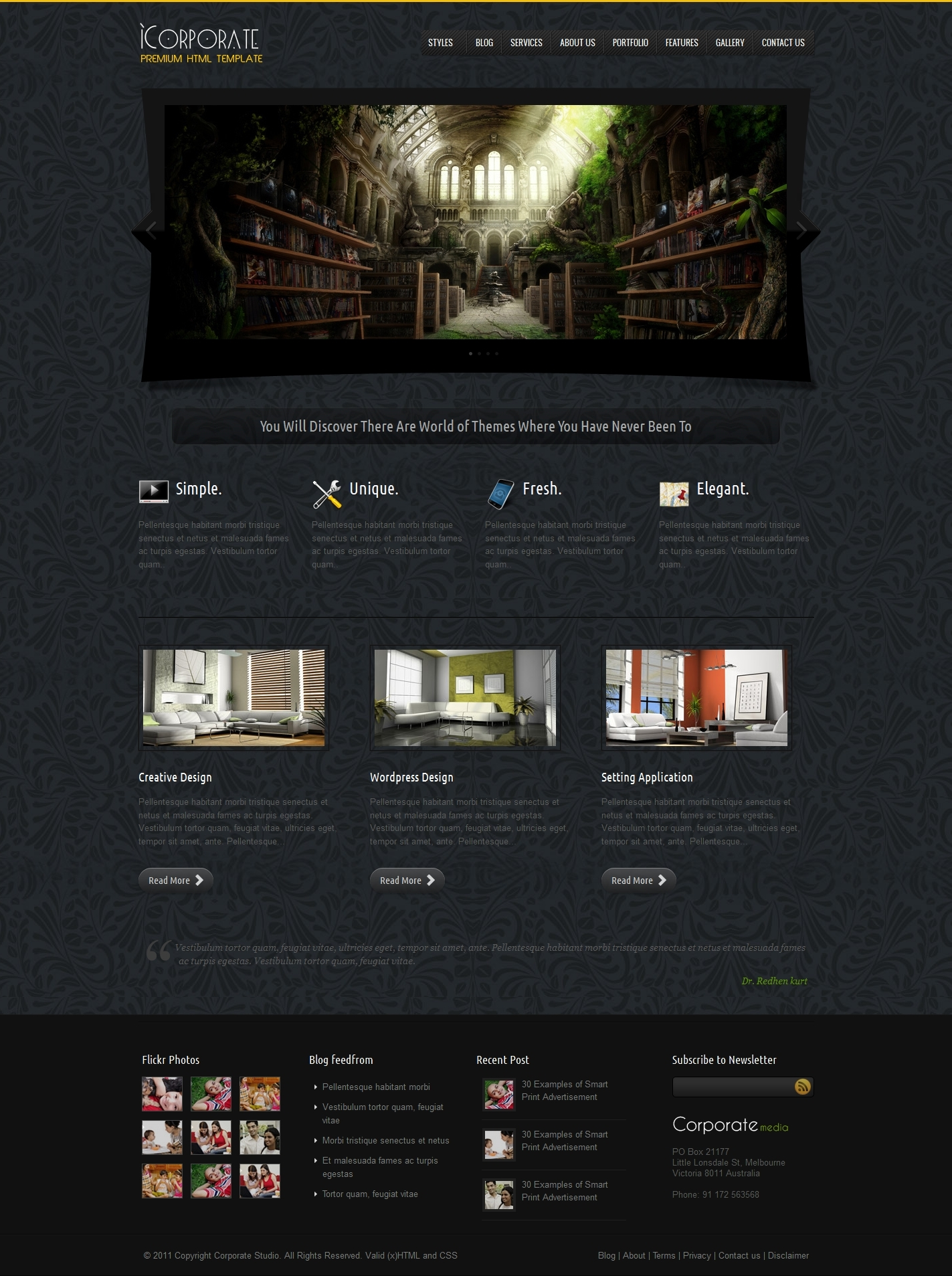 iCorporate - Business and Portfolio HTML Theme
