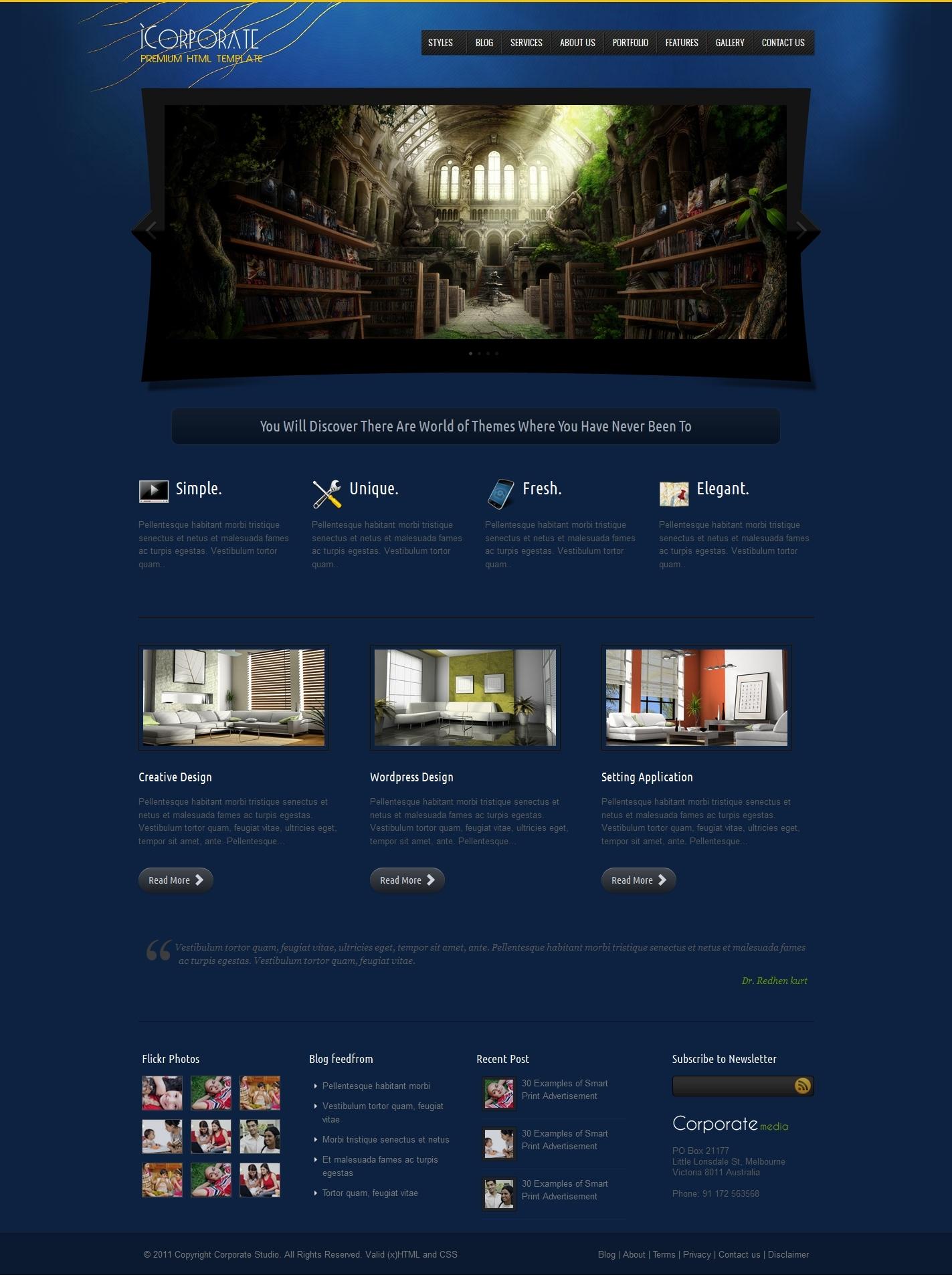 iCorporate - Business and Portfolio HTML Theme