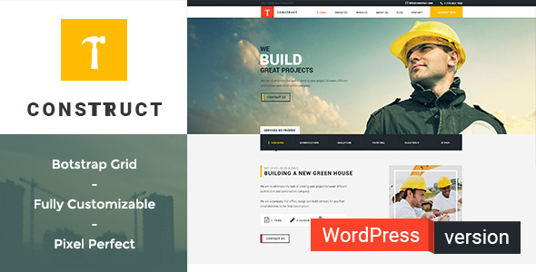 Download Construct - Construction, Building WordPress Theme nulled download