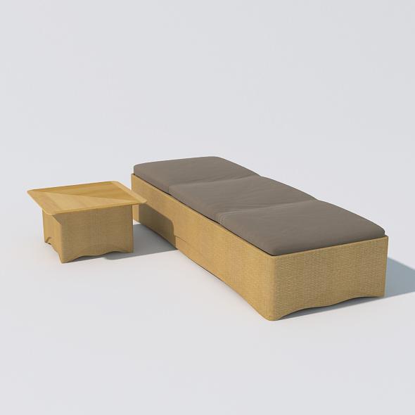 Sunbed 06 - 3DOcean Item for Sale