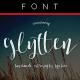 Glytten Calligraphy Typeface