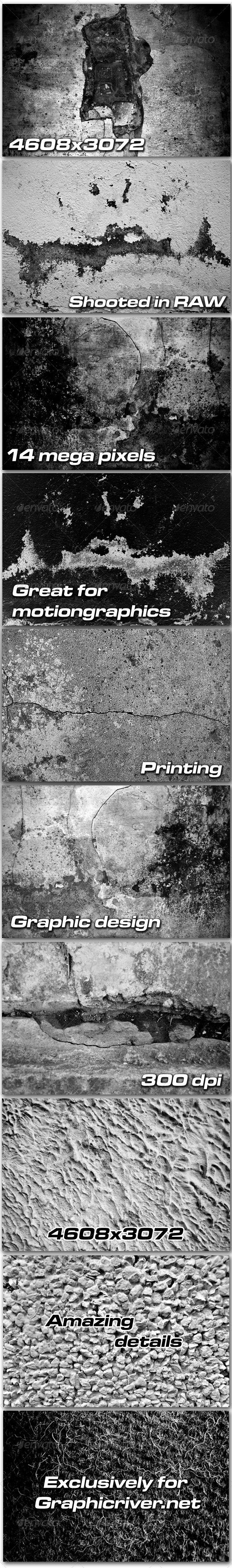 10 Grunge texture pack - Industrial / Grunge Textures