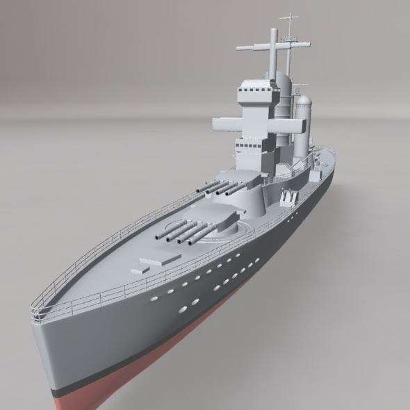 War Ship - 3DOcean Item for Sale