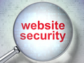 Web design concept: Website Security with optical glass