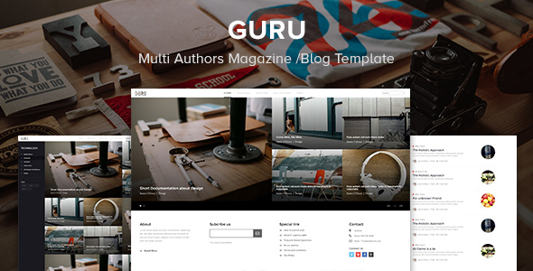 Guru - Multi Authors Magazine/Blog Template