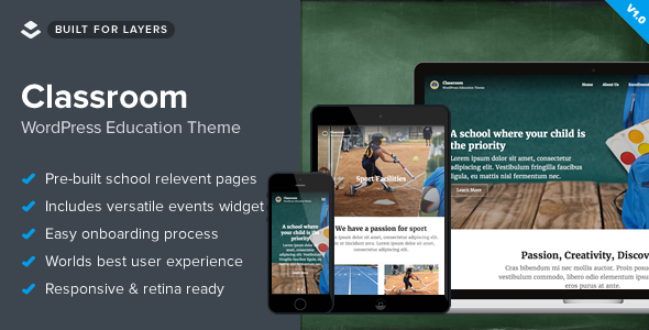 Classroom - Responsive WordPress School Theme