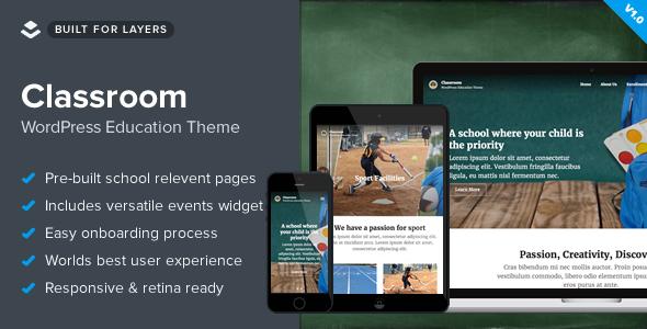 Classroom - Responsive WordPress School Theme