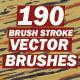 190 Brush Stroke Vector Brushes
