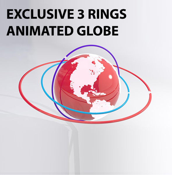 Exclusive 3D Globe Model - 3DOcean Item for Sale
