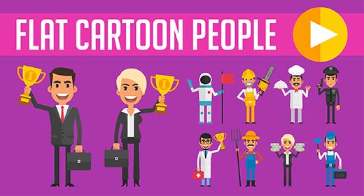 Flat Cartoon People