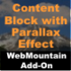 Content Block with Parallax Effect for WebMountain