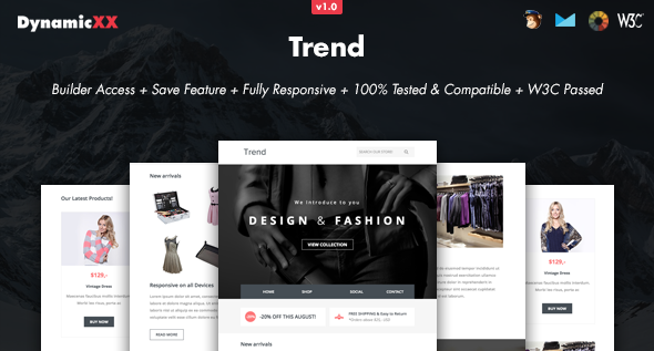 Trend - Responsive Email + Online Template Builder
