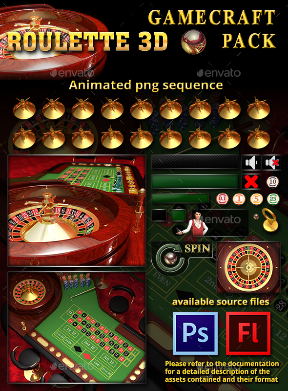 3D Roulette Game Assets (Game Assets)