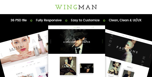 WINGMAN - E-Commerce and Blog PSD Theme