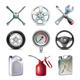 Car Service Tools Icon Set