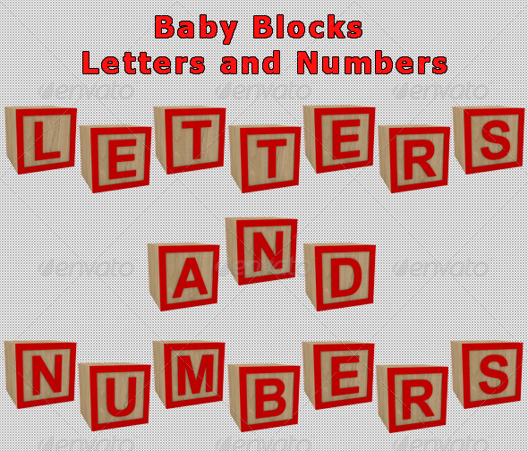 GraphicRiver Baby Blocks Letters and Numbers 160897