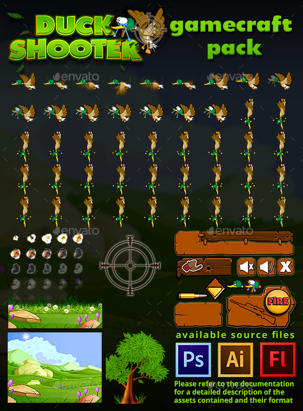 Duck Shooter Game Assets (Game Assets)
