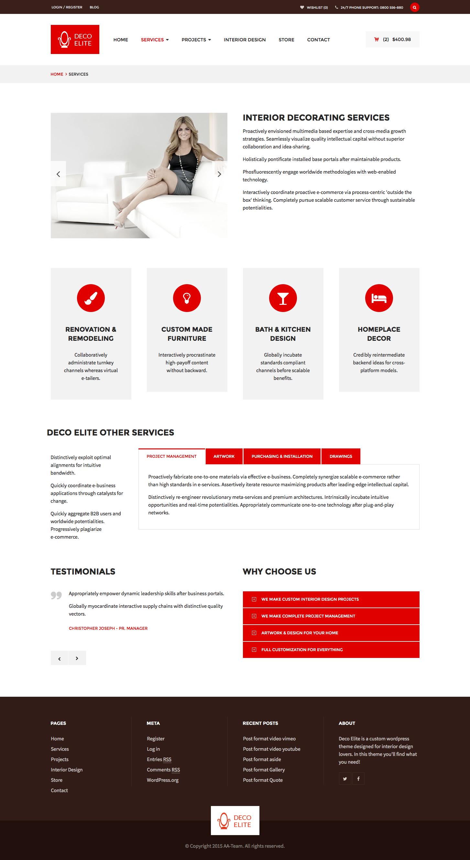 Deco elite interior design ecommerce theme by aa team for Elite design