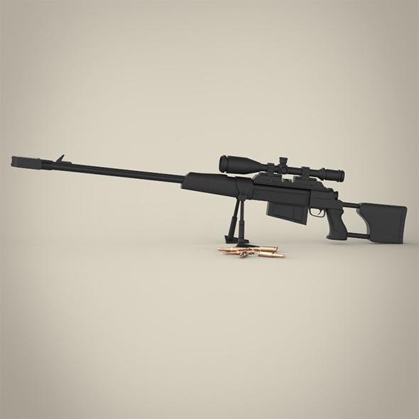 R4P3 Sniper Gun - 3DOcean Item for Sale