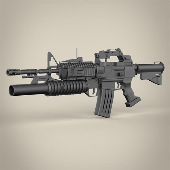 C15-M203 Machine Gun - 3DOcean Item for Sale