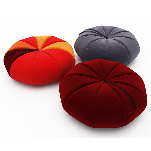 Colorful Pumpkin Pouf - 3DOcean Item for Sale