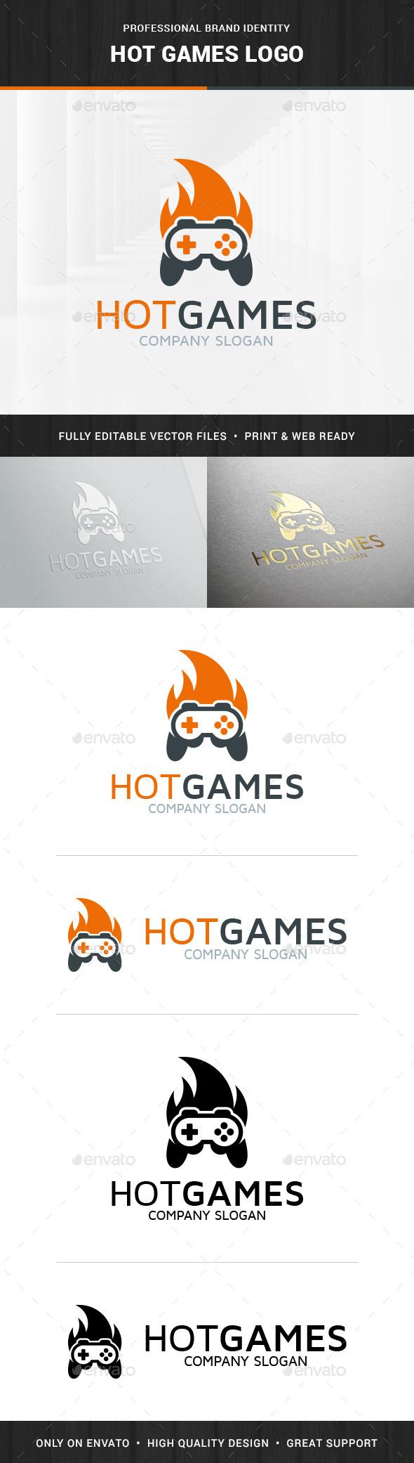 Hot Games Logo Template