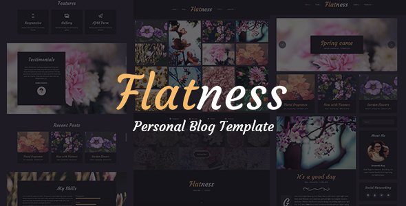 Flatness - Personal HTML Blog Template