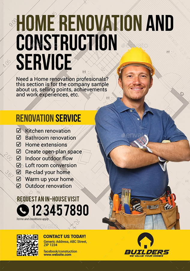 Company Construction and Building Flyer by Artchery | GraphicRiver