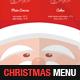A4 Christmas Menu Template