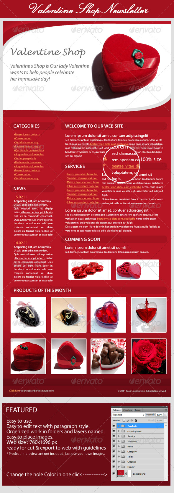 Valentines Day E-Newsletter - E-newsletters Web Elements