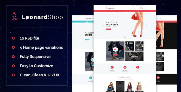 LeonardShop - E-Commerce and Blog PSD Theme