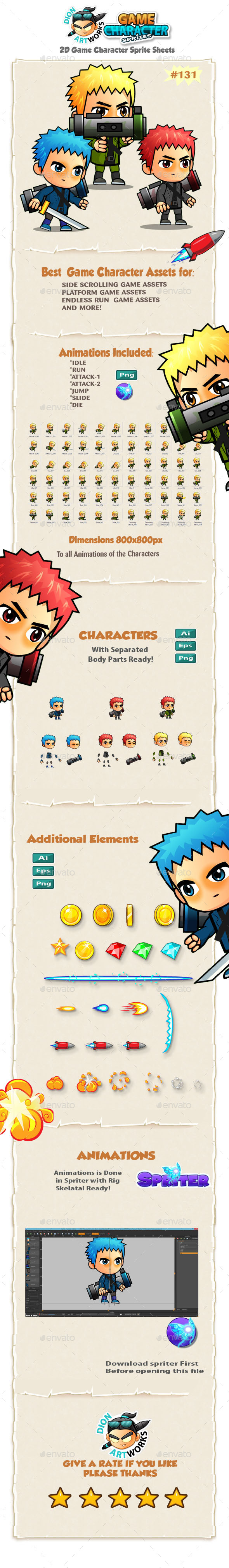 2D Game Character Sprites 131 (Sprites)