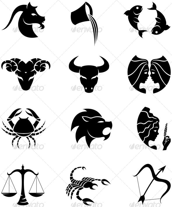 GraphicRiver zodiac silhouettes 53497