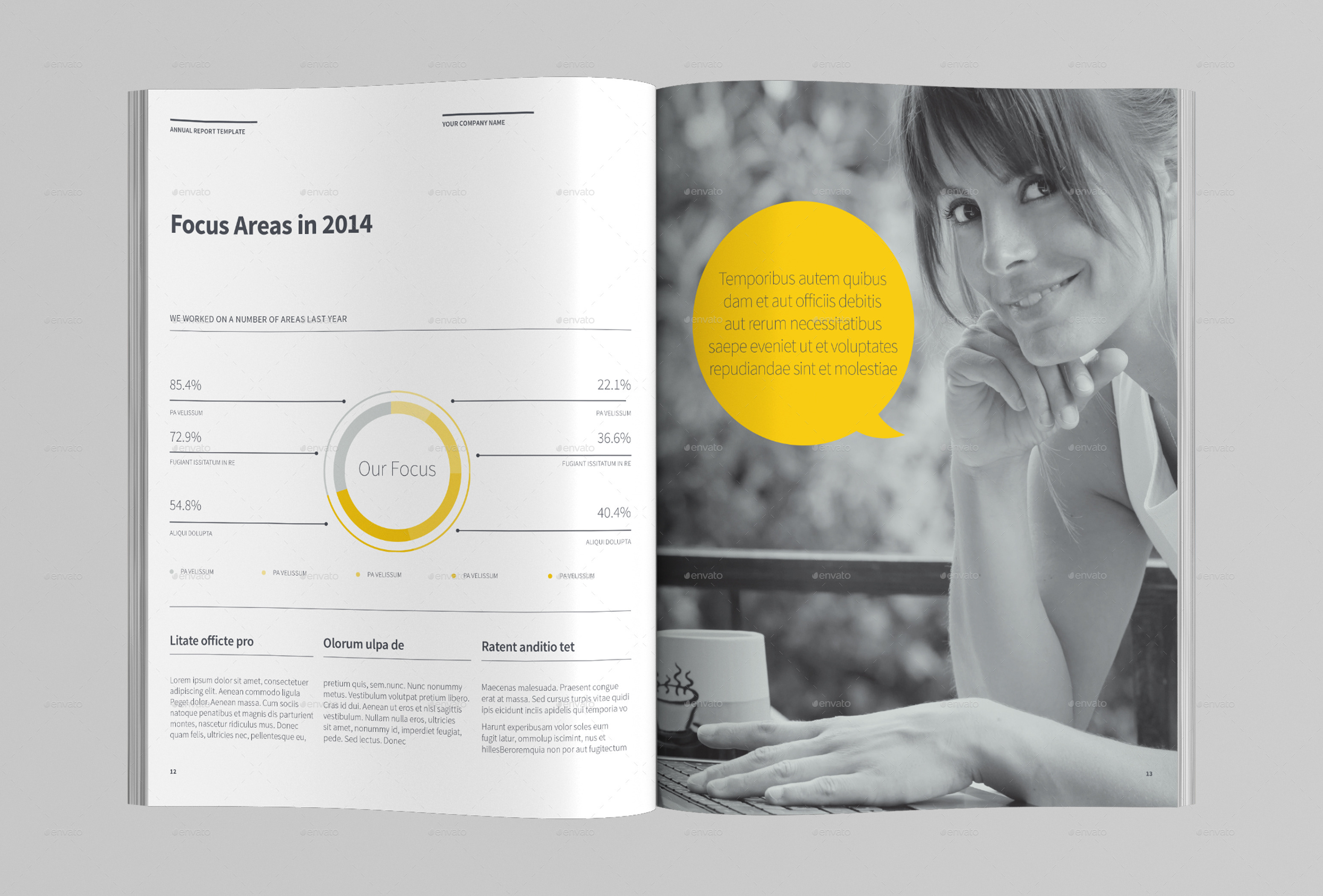 Annual Report Template by AzyWorks – Annual Reports Templates