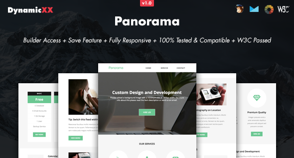 Panorama - Responsive Email + Online Builder
