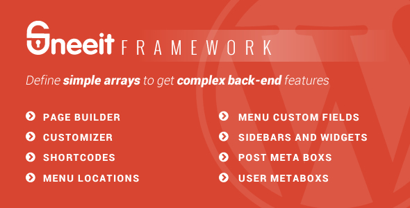 Sneeit Framework - Back-End for WordPress Themes