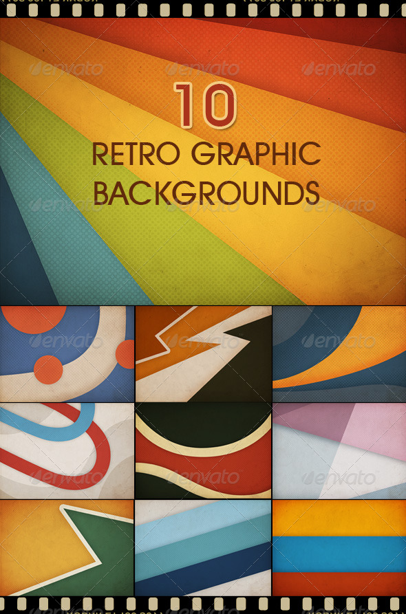 GraphicRiver 10 Retro Graphic Backgrounds 161104