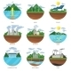 Generation Energy Types. Power Plant Icons Vector