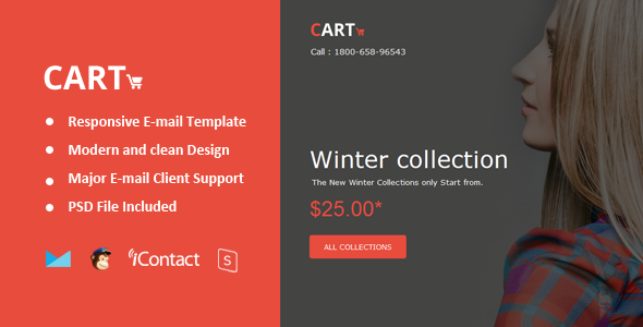Cart Mail - Responsive E-mail + Online Access