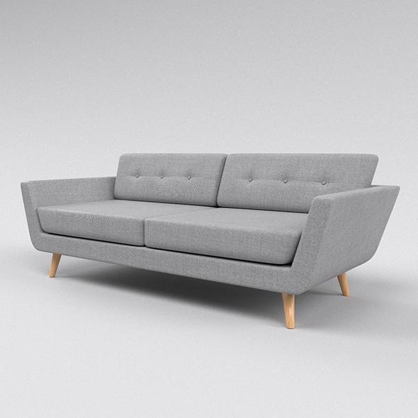 Grey sofa - 3DOcean Item for Sale
