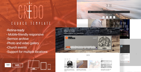 Credo - Church WordPress Theme