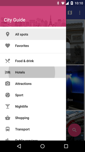 City Guide - Map App for Android by robotemplates | CodeCanyon