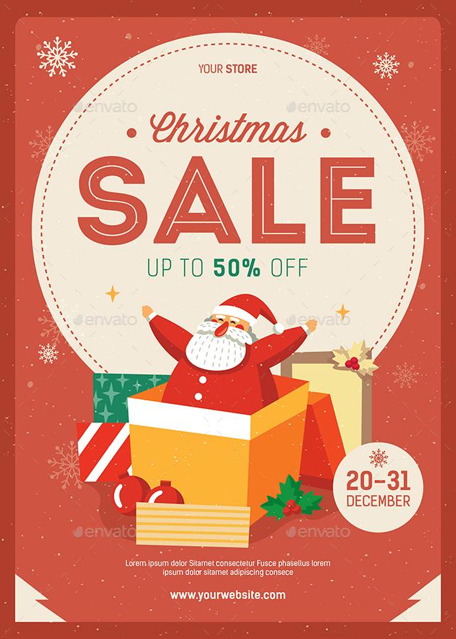 Christmas Sale Flyer by Guuver | GraphicRiver