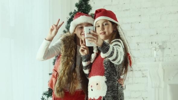 Kids Christmas Selfie