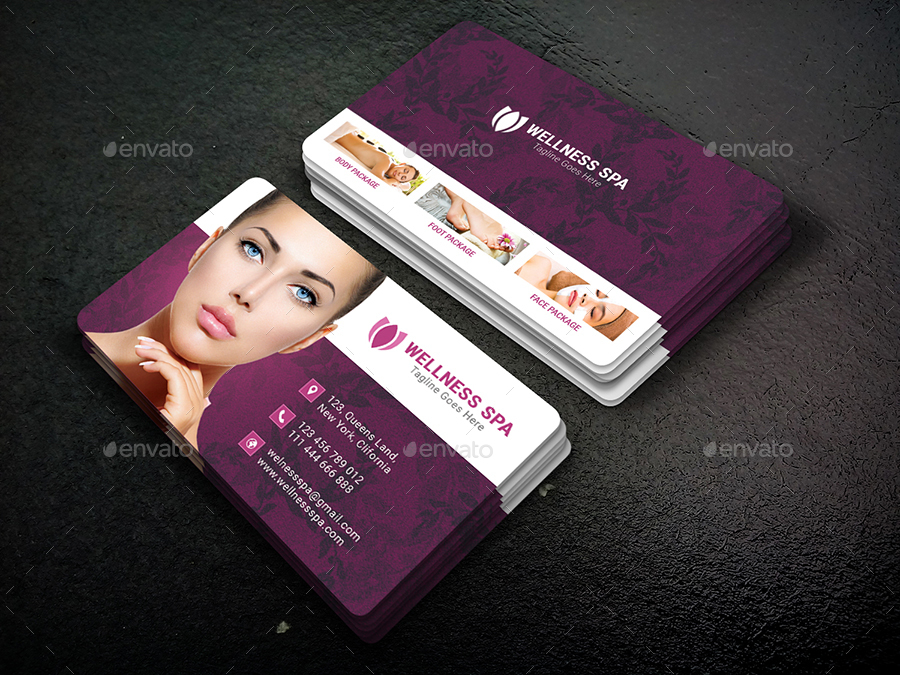 Beauty Spa Business Card Bundle By Designereshad Graphicriver