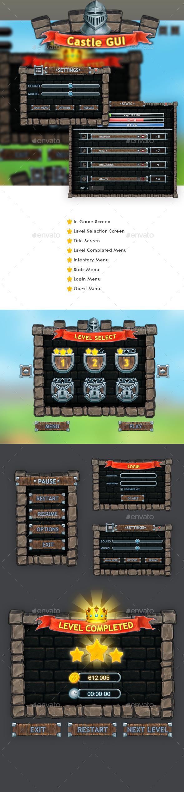 Castle Gui Set (User Interfaces)