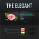 THE ELEGANT HTML/CSS One Page Template