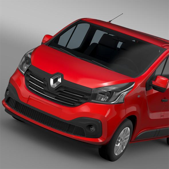 Renault Trafic Minibus 2015 - 3DOcean Item for Sale