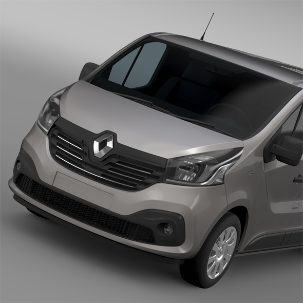 Renault Trafic Van L2H1 2015 - 3DOcean Item for Sale