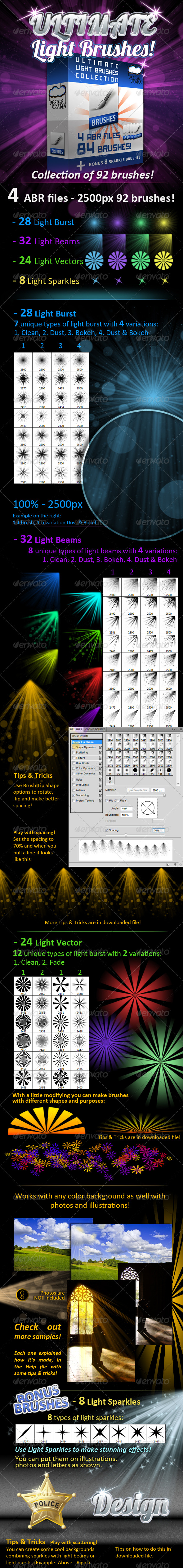 GraphicRiver Ultimate Light Brushes Collection 158631
